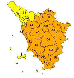 Toscana Rischio Neve 12 Febbraio 2021