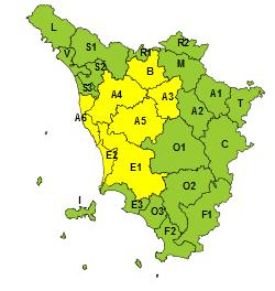 Toscana Rischio Vento 12 Febbraio 2021